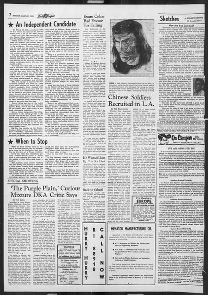 Daily Trojan, Vol. 46, No. 101, March 21, 1955