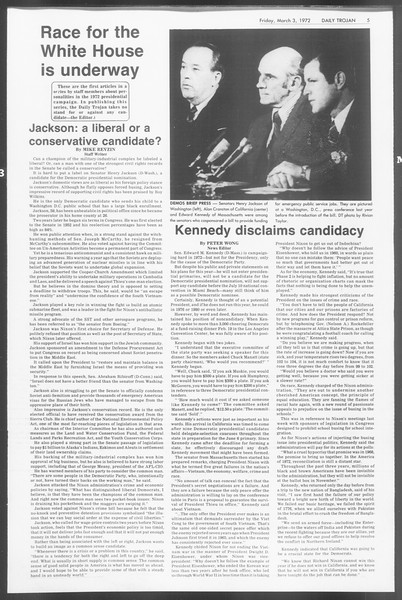 Daily Trojan, Vol. 64, No. 81, March 03, 1972