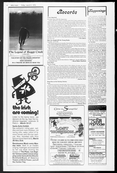 Daily Trojan, Vol. 65, No. 87, March 09, 1973