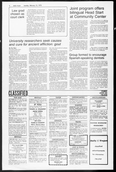 Daily Trojan, Vol. 65, No. 71, February 13, 1973