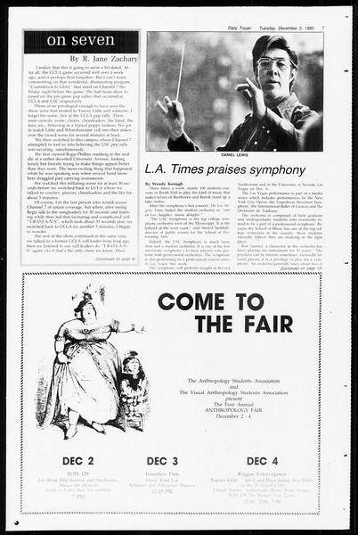 Daily Trojan, Vol. 89, No. 50, December 02, 1980