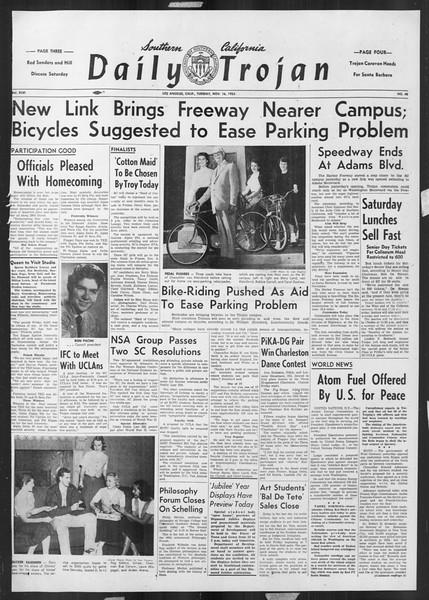 Daily Trojan, Vol. 46, No. 43, November 16, 1954