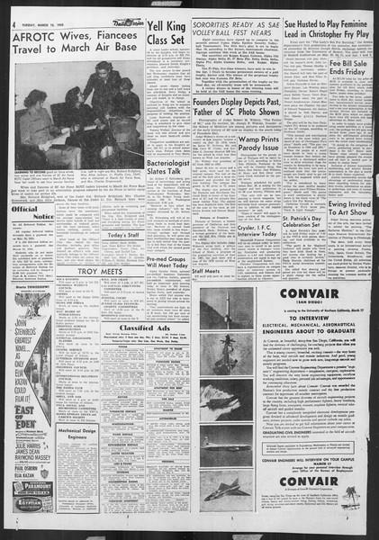 Daily Trojan, Vol. 46, No. 97, March 15, 1955