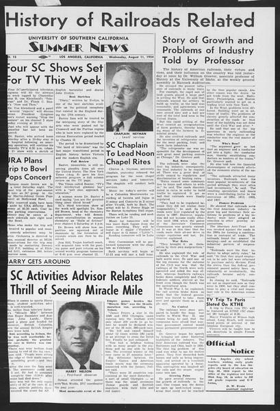 Summer News, Vol. 9, No. 15, August 11, 1954