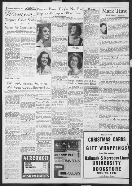 Daily Trojan, Vol. 46, No. 56, December 07, 1954