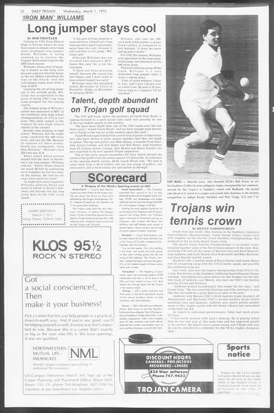 Daily Trojan, Vol. 64, No. 79, March 01, 1972