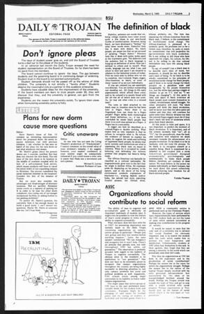Daily Trojan, Vol. 60, No. 83, March 05, 1969