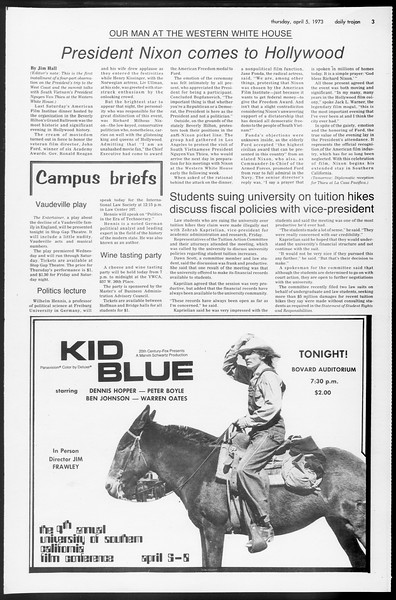 Daily Trojan, Vol. 65, No. 106, April 05, 1973