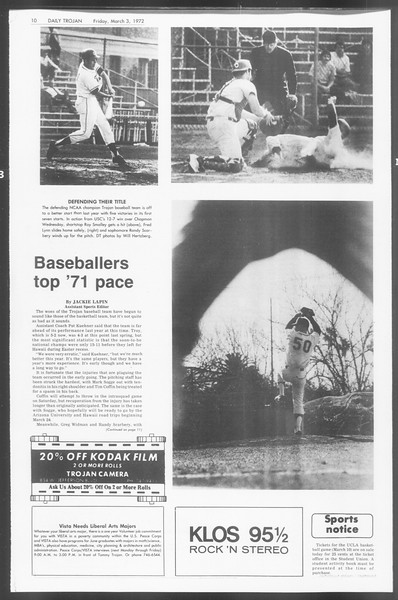 Daily Trojan, Vol. 64, No. 81, March 03, 1972