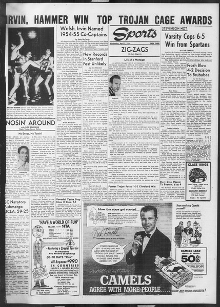 Daily Trojan, Vol. 45, No. 110, April 07, 1954