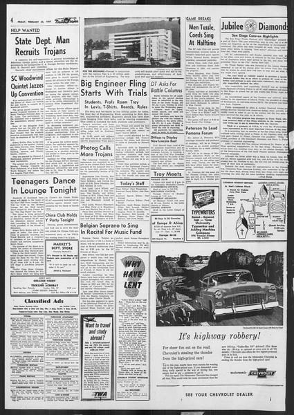 Daily Trojan, Vol. 46, No. 85, February 25, 1955