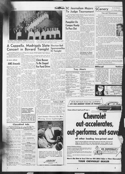 Daily Trojan, Vol. 45, No. 137, May 21, 1954