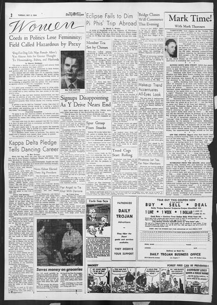 Daily Trojan, Vol. 46, No. 13, October 05, 1954