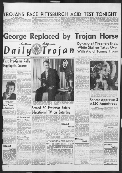 Daily Trojan, Vol. 46, No. 6, September 24, 1954