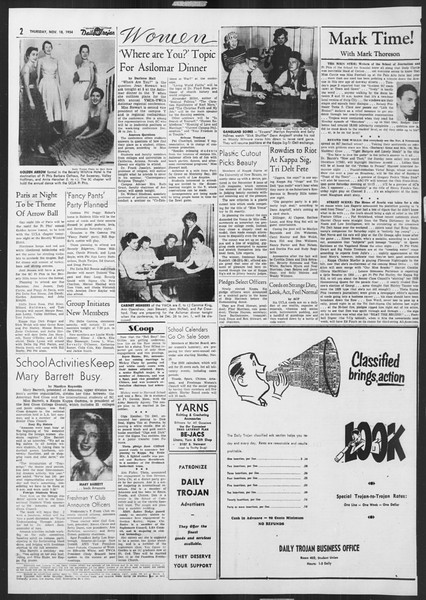 Daily Trojan, Vol. 46, No. 45, November 18, 1954