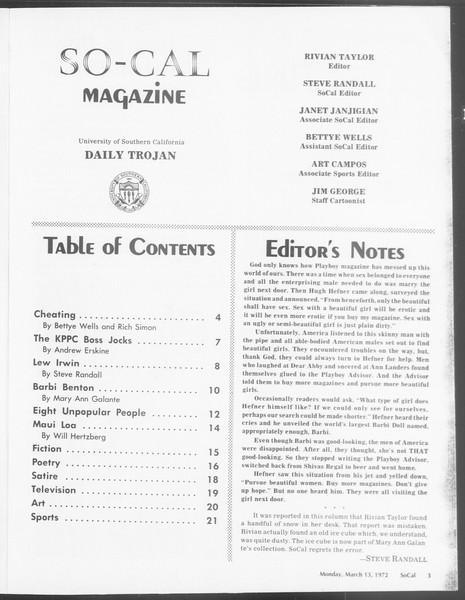 SoCal, Vol. 64, No. 87, March 13, 1972