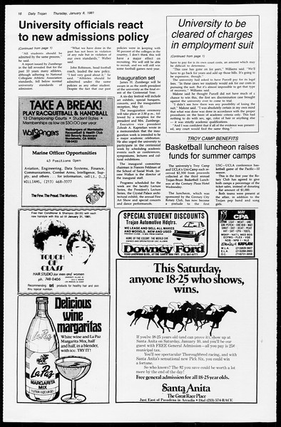 Daily Trojan, Vol. 89, No. 63, January 08, 1981