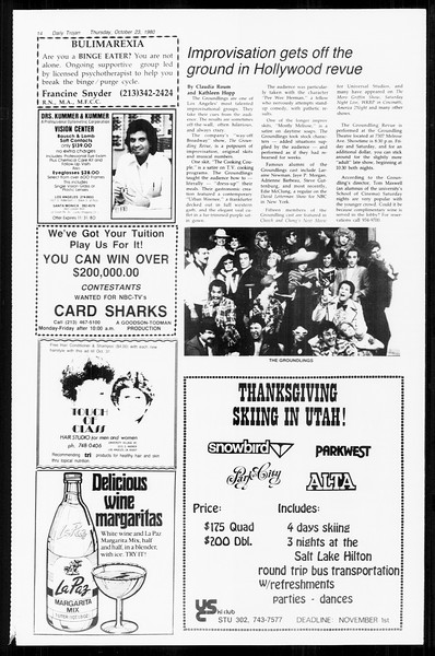 Daily Trojan, Vol. 89, No. 27, October 23, 1980