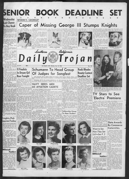 Daily Trojan, Vol. 45, No. 128, May 10, 1954