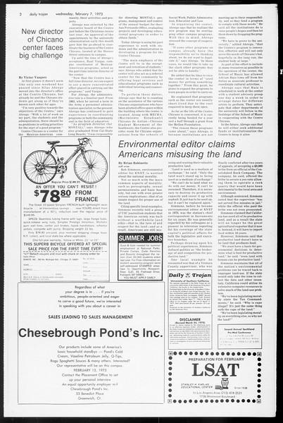 Daily Trojan, Vol. 65, No. 67, February 07, 1973