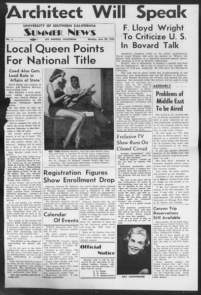 Summer News, Vol. 9, No. 3, June 28, 1954