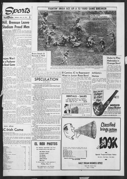 Daily Trojan, Vol. 46, No. 50, November 29, 1954