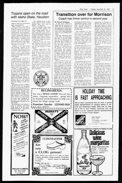 Daily Trojan, Vol. 89, No. 48, November 25, 1980