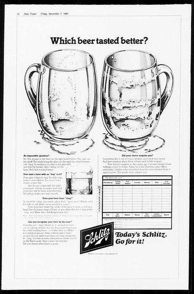 Daily Trojan, Vol. 89, No. 38, November 07, 1980