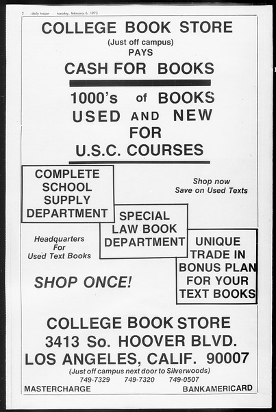 Daily Trojan, Vol. 65, No. 66, February 06, 1973