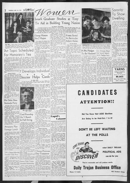 Daily Trojan, Vol. 46, No. 10, September 30, 1954