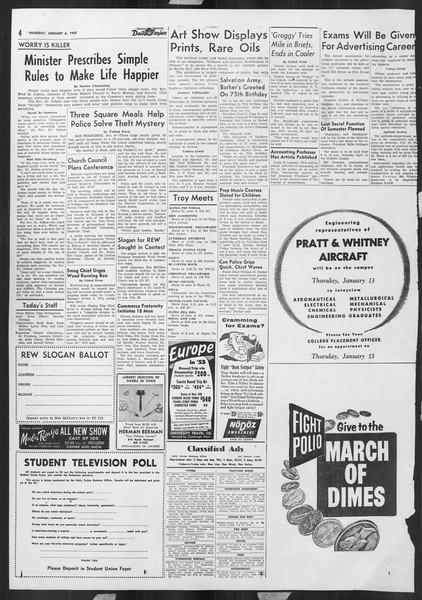 Daily Trojan, Vol. 46, No. 68, January 06, 1955