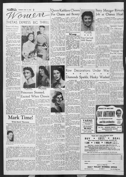 Daily Trojan, Vol. 46, No. 40, November 11, 1954