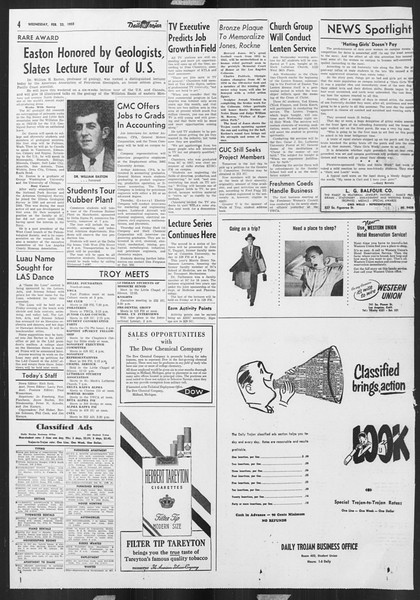 Daily Trojan, Vol. 46, No. 83, February 23, 1955