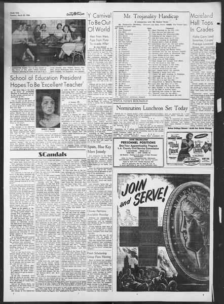 Daily Trojan, Vol. 45, No. 104, March 30, 1954