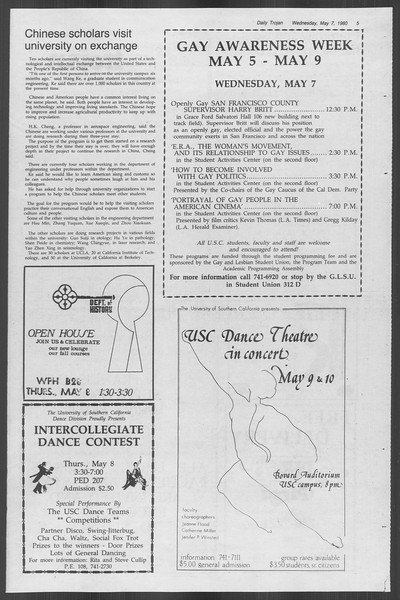 Daily Trojan, Vol. 88, No. 60, May 07, 1980