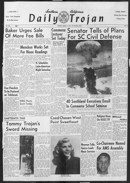 Daily Trojan, Vol. 46, No. 96, March 14, 1955