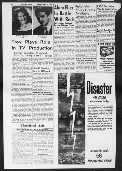Summer News, Vol. 9, No. 12, August 02, 1954