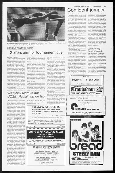 Daily Trojan, Vol. 65, No. 111, April 12, 1973