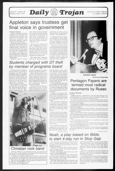 Daily Trojan, Vol. 65, No. 119, May 03, 1973