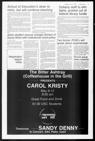 Daily Trojan, Vol. 65, No. 122, May 08, 1973
