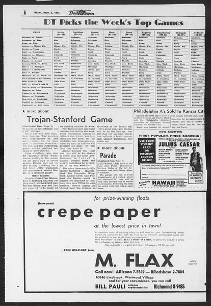 Daily Trojan, Vol. 46, No. 36, November 05, 1954