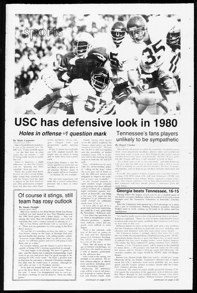 Daily Trojan, Vol. 89, No. 1, September 09, 1980
