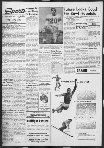 Daily Trojan, Vol. 46, No. 28, October 26, 1954