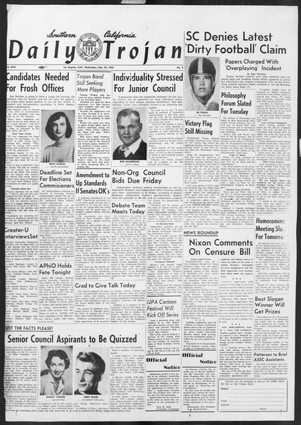 Daily Trojan, Vol. 46, No. 9, September 29, 1954