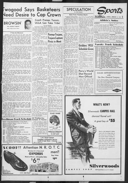 Daily Trojan, Vol. 46, No. 72, February 08, 1955