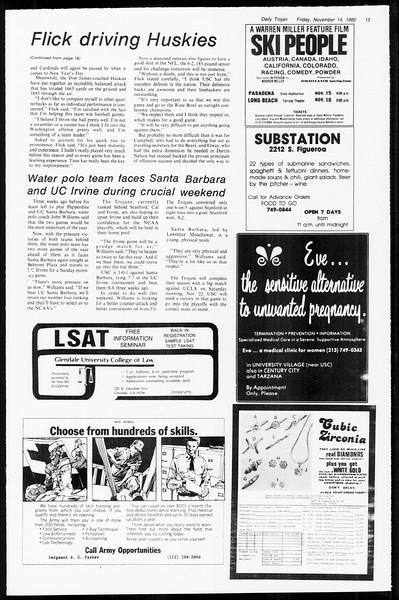 Daily Trojan, Vol. 89, No. 41, November 14, 1980