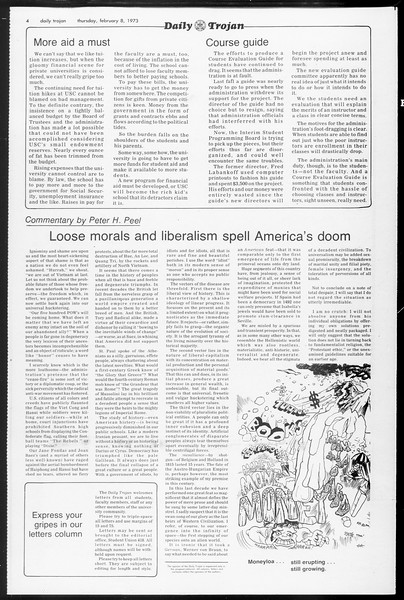 Daily Trojan, Vol. 65, No. 68, February 08, 1973