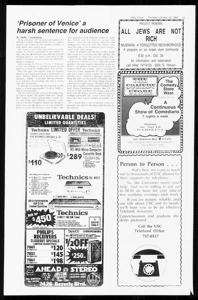 Daily Trojan, Vol. 89, No. 27, October 23, 1980