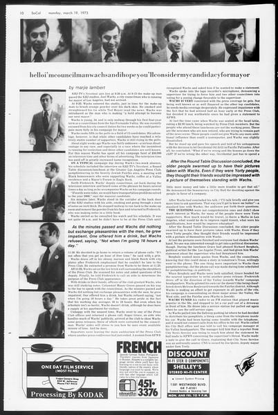 SoCal, Vol. 65, No. 93, March 19, 1973