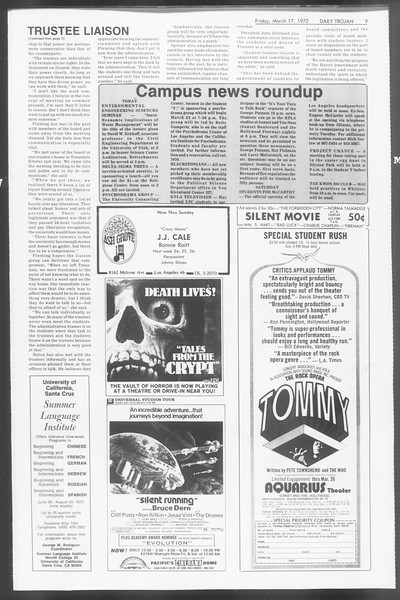 Daily Trojan, Vol. 64, No. 91, March 17, 1972